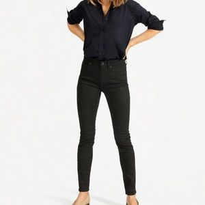 Everlane Mid-Rise Skinny Jeans in Black, 24 Ankle